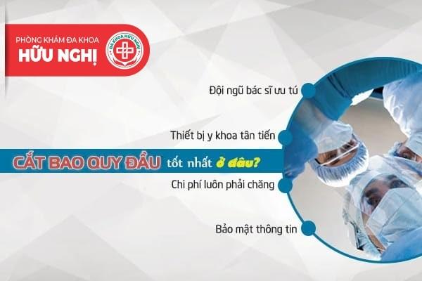 Nơi nào thực hiện cắt bao quy đầu Quảng Ngãi an toàn và không đau?