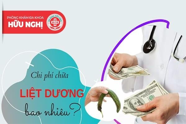 Mỗi phương pháp điều trị bệnh liệt dương có mức chi phí khác nhau