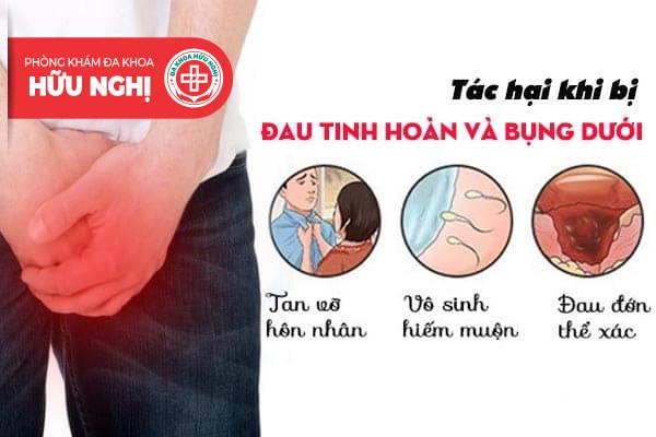 Hiện tượng đau tinh hoàn và bụng dưới có nguy hiểm không?
