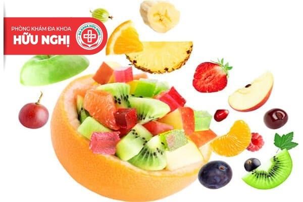 Hoa quả cung cấp vitamin A, C, E chính là thực phẩm giúp về thương màu lành sau khi khâu