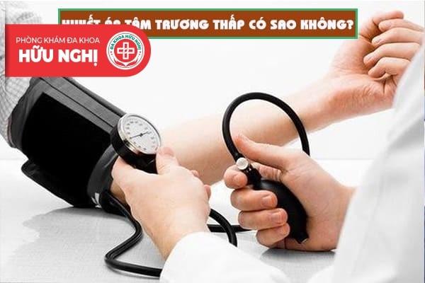 Huyết áp tâm trương thấp có sao không?