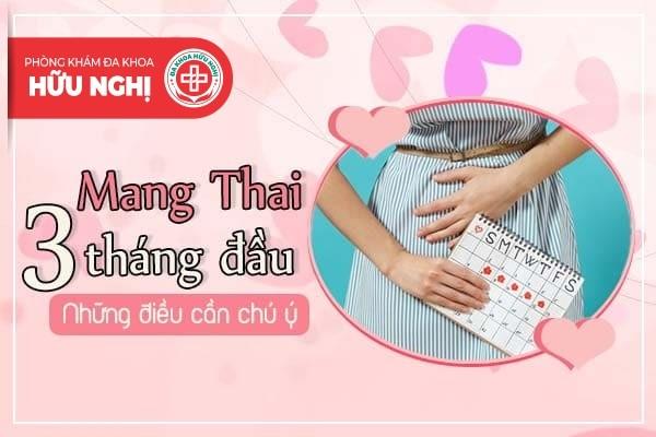 Mang thai 3 tháng đầu - Những điều cần chú ý