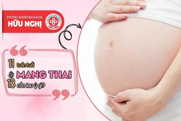 Mẹ bầu cần lưu ý những gì khi mang thai vào 11 và 13 tuần tuổi?