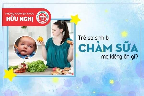 Trẻ sơ sinh bị chàm sữa mẹ kiêng ăn gì?